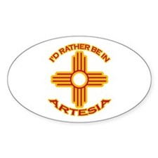 I'd Rather Be In Artesia Oval Sticker