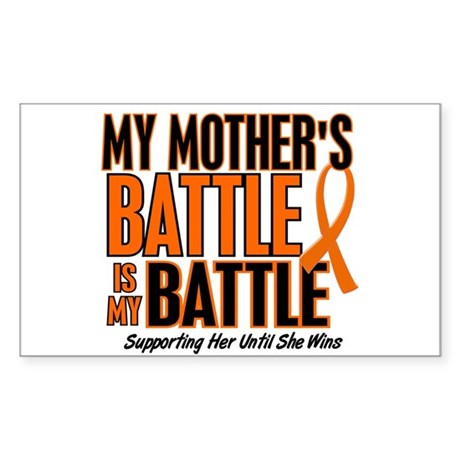 My Battle Too (Mother) Orange Rectangle Sticker