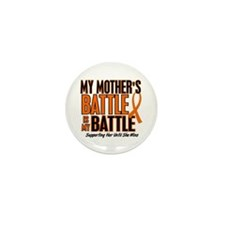 My Battle Too (Mother) Orange Mini Button (10 pack