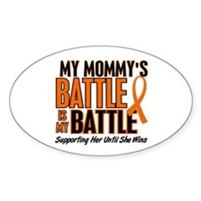 My Battle Too (Mommy) Orange Oval Decal