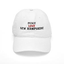 Peace Love New Hampshire Baseball Cap