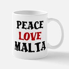 Peace Love Malta Mug