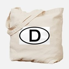 Germany - D - Oval Tote Bag
