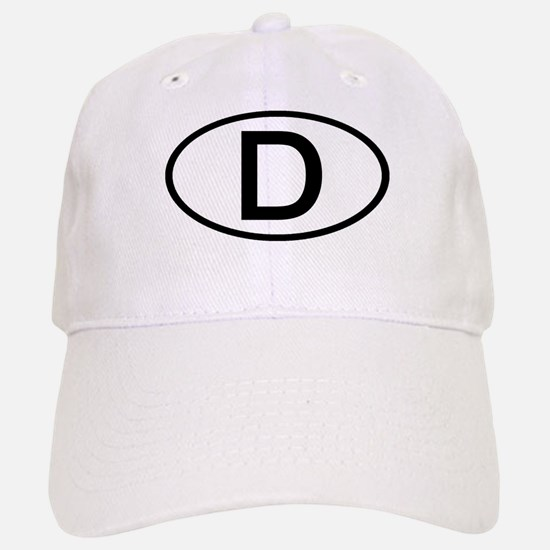 Germany - D - Oval Baseball Baseball Cap