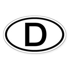 Germany - D - Oval Oval Decal