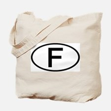 France - F - Oval Tote Bag