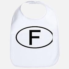 France - F - Oval Bib