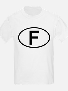 France - F - Oval Kids T-Shirt