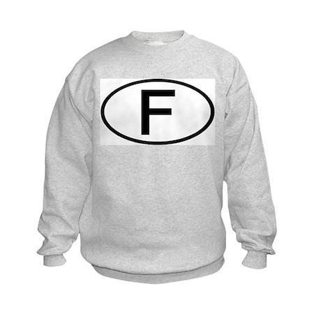 France - F - Oval Kids Sweatshirt