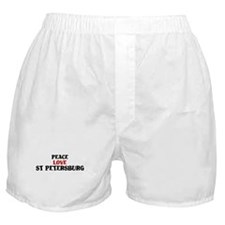 Peace Love St Petersburg Boxer Shorts