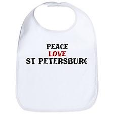 Peace Love St Petersburg Bib