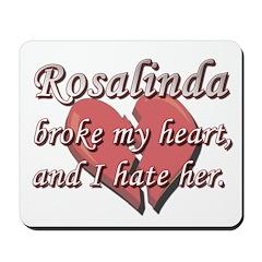 Rosalinda broke my heart and I hate her Mousepad