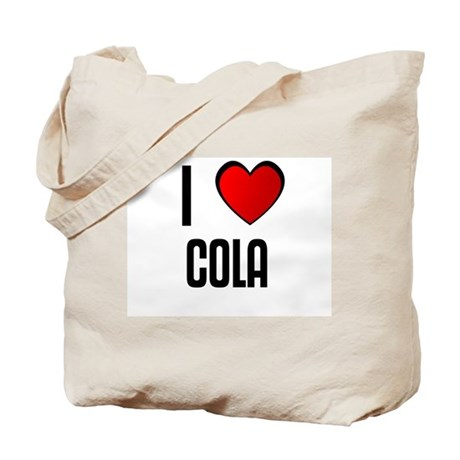 I LOVE COLA Tote Bag