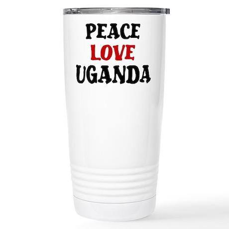 Peace Love Uganda Stainless Steel Travel Mug
