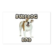 Bulldog Dad Postcards (Package of 8)