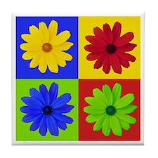 Retro Daisy Tile Coaster