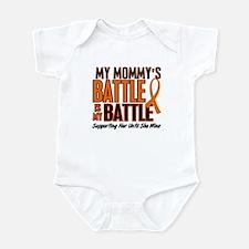 My Battle Too (Daddy) Orange Infant Bodysuit