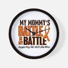 My Battle Too (Daddy) Orange Wall Clock