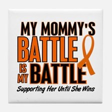 My Battle Too (Daddy) Orange Tile Coaster