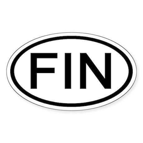 Finland - FIN - Oval Oval Sticker