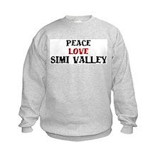 Peace Love Simi Valley Sweatshirt