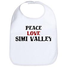 Peace Love Simi Valley Bib