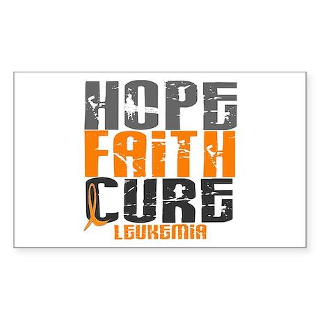 HOPE FAITH CURE Leukemia Rectangle Sticker