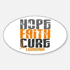 HOPE FAITH CURE Leukemia Oval Decal