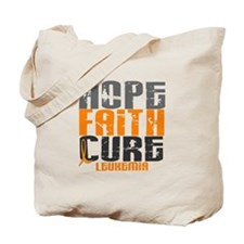 HOPE FAITH CURE Leukemia Tote Bag