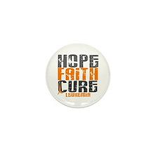 HOPE FAITH CURE Leukemia Mini Button (10 pack)