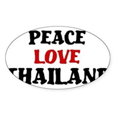 Peace Love Thailand Oval Decal