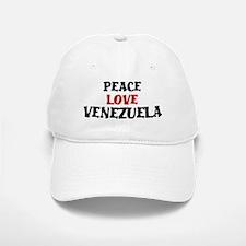 Peace Love Venezuela Baseball Baseball Cap