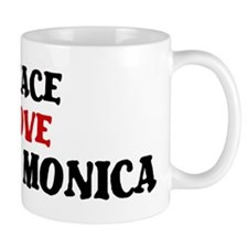 Peace Love Santa Monica Mug