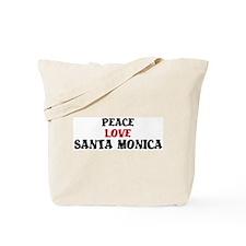Peace Love Santa Monica Tote Bag