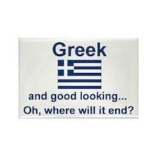 Good Looking Greek Rectangle Magnet
