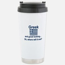 Good Looking Greek Stainless Steel Travel Mug