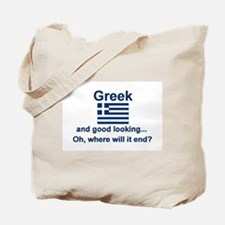 Good Looking Greek Tote Bag