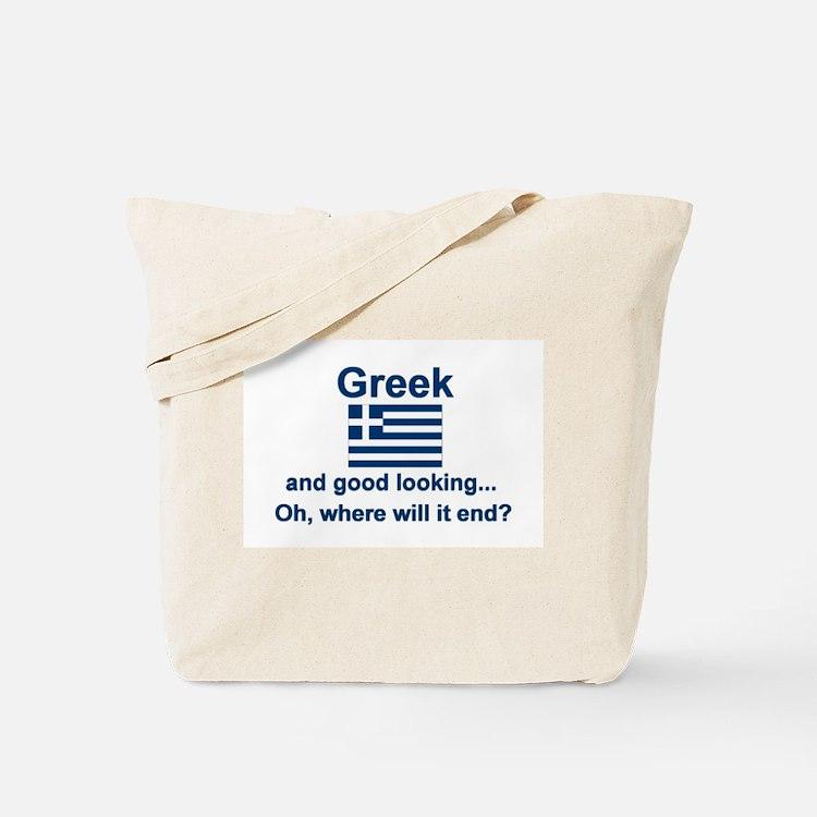 Good Looking Greek Tote Bag