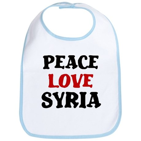 Peace Love Syria Bib