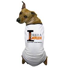 I Need A Cure LEUKEMIA Dog T-Shirt