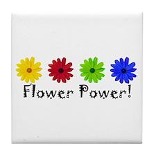 Flower Power Daisy Tile Coaster