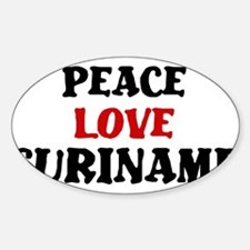 Peace Love Suriname Oval Decal