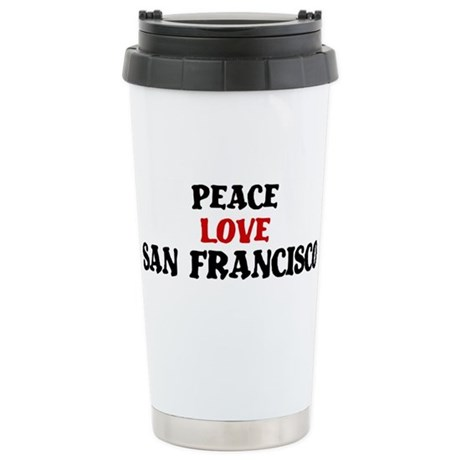 Peace Love San Francisco Stainless Steel Travel Mu