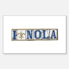 Love NOLA Rectangle Decal