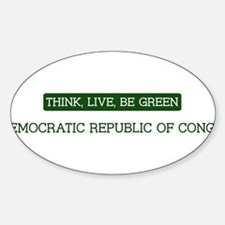 Green DEMOCRATIC REPUBLIC OF Oval Decal