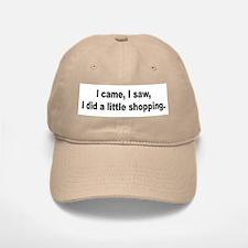 Shopping and Shop Humor Baseball Baseball Cap