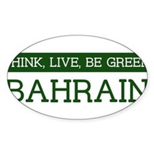 Green BAHRAIN Oval Decal