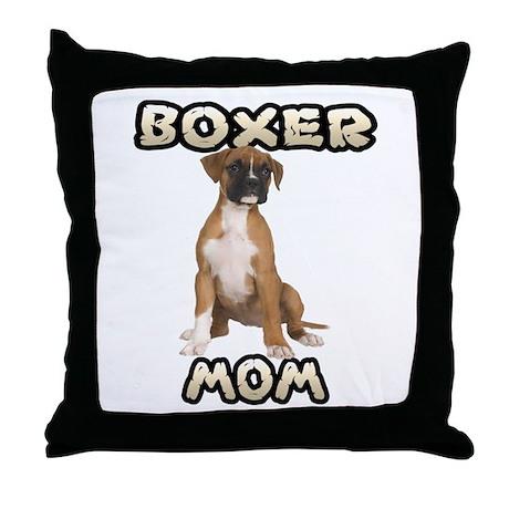 Boxer Mom Throw Pillow