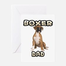 Boxer Dad Greeting Card