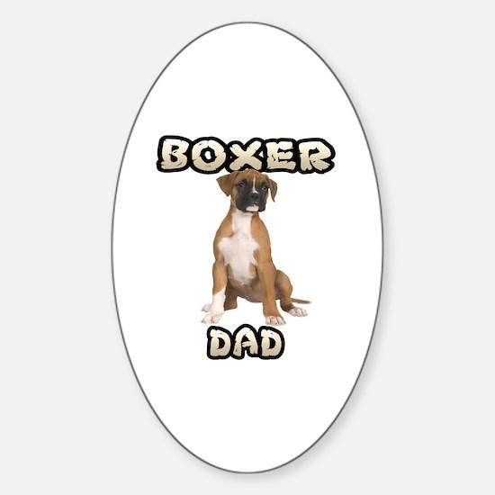 Boxer Dad Sticker (Oval)